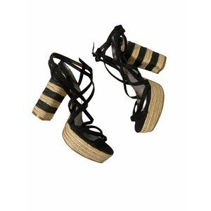 LULU TOWNSEND STRAPPY SANDALS 8.5 NWOT